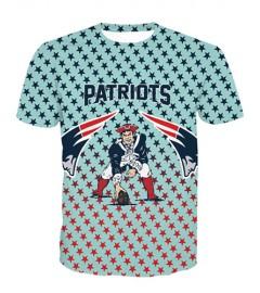 LNTX11206 3D Digital Printed NFL New England Patriots Football Team Sport Unisex T-shirt