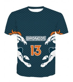 LNTX11207 3D Digital Printed NFL Denver Broncos Football Team Sport Unisex T-shirt