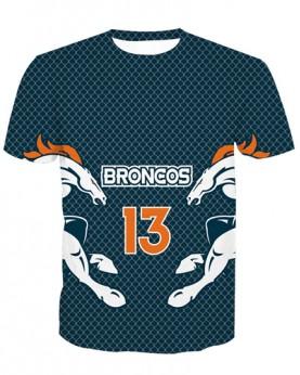 LNTX11207 3D Digital Printed NFL Denver Broncos Football Team Sport Unisex T-shirt