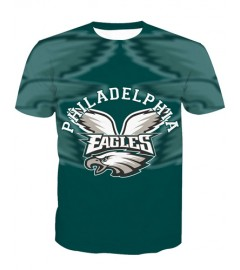 LNTX11208 3D Digital Printed NFL Philadelphia Eagles Football Team Sport Unisex T-shirt
