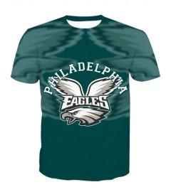 LNTX11208 3D Digital Printed NFL Philadelphia Eagles Football Team Sport Unisex T-shirt
