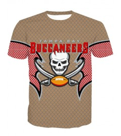 LNTX11209 3D Digital Printed NFL Tanpa Bay Buccaneers Football Team Sport Unisex T-shirt
