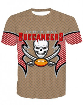 LNTX11209 3D Digital Printed NFL Tanpa Bay Buccaneers Football Team Sport Unisex T-shirt
