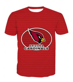 LNTX11212 3D Digital Printed NFL Arizona Cardinals Football Team Sport Unisex T-shirt