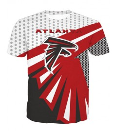 LNTX11213 3D Digital Printed NFL Atlanta Falcons Football Team Sport Unisex T-shirt