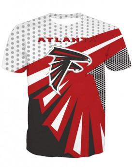 LNTX11213 3D Digital Printed NFL Atlanta Falcons Football Team Sport Unisex T-shirt