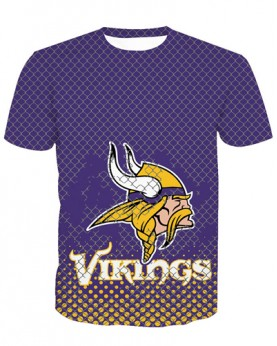 LNTX11214 3D Digital Printed NFL Minnesota Vikings Football Team Sport Unisex T-shirt