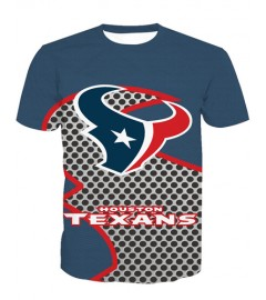LNTX11215 3D Digital Printed NFL Houston Texans Football Team Sport Unisex T-shirt