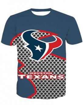 LNTX11215 3D Digital Printed NFL Houston Texans Football Team Sport Unisex T-shirt