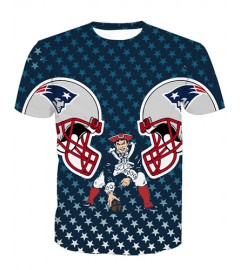 LNTX11216 3D Digital Printed NFL New England Patriots Football Team Sport Unisex T-shirt