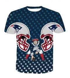 LNTX11216 3D Digital Printed NFL New England Patriots Football Team Sport Unisex T-shirt