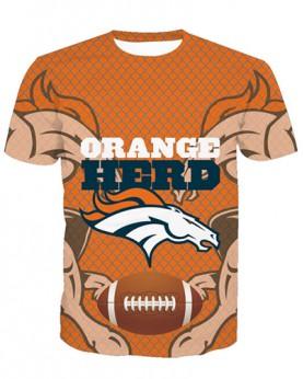 LNTX11217 3D Digital Printed NFL Denver Broncos Football Team Sport Unisex T-shirt