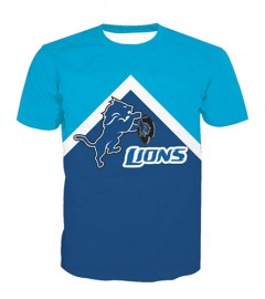 LNTX11218 3D Digital Printed NFL Detroit Lions Football Team Sport Unisex T-shirt