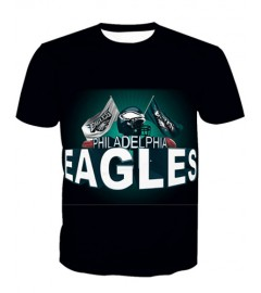 LNTX11219 3D Digital Printed NFL Philadelphia Eagles Football Team Sport Unisex T-shirt