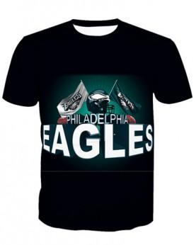 LNTX11219 3D Digital Printed NFL Philadelphia Eagles Football Team Sport Unisex T-shirt