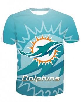 LNTX11220 3D Digital Printed NFL Miami Dolphins Football Team Sport Unisex T-shirt