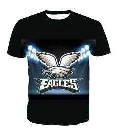 LNTX11221 3D Digital Printed NFL Philadelphia Eagles Football Team Sport Unisex T-shirt