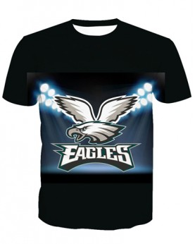 LNTX11221 3D Digital Printed NFL Philadelphia Eagles Football Team Sport Unisex T-shirt