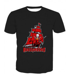 LNTX11222 3D Digital Printed NFL Tampa Bay Buccaneers Football Team Sport Unisex T-shirt