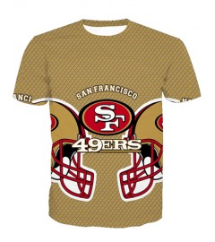LNTX11225 3D Digital Printed NFL San Francisco 49ers Football Team Sport Unisex T-shirt