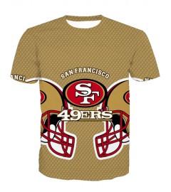 LNTX11225 3D Digital Printed NFL San Francisco 49ers Football Team Sport Unisex T-shirt