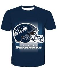 LNTX11228 3D Digital Printed NFL Seattle Seahawks Football Team Sport Unisex T-shirt