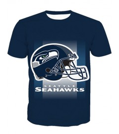LNTX11227 3D Digital Printed NFL Seattle Seahawks Football Team Sport Unisex T-shirt