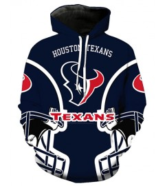 FGA7425 3D Digital Printed NFL Houston Texans Football Team Sport Hoodie With Hat