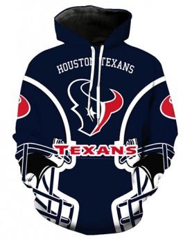 FGA7425 3D Digital Printed NFL Houston Texans Football Team Sport Hoodie With Hat