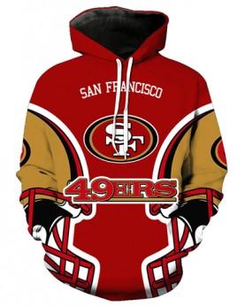 FGA7426 3D Digital Printed NFL San Francisco 49ers Football Team Sport Hoodie With Hat