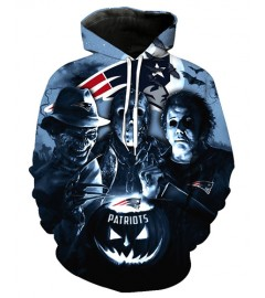 FGD7152 3D Digital Printed NFL New England Patriots Football Team Sport Hoodie With Hat