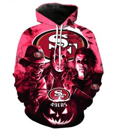 FGD7247 3D Digital Printed NFL San Francisco 49ers Football Team Sport Hoodie With Hat
