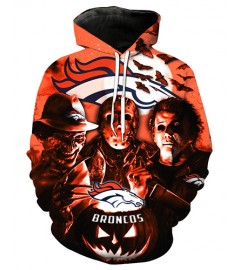 FGD7249 3D Digital Printed NFL Denver Broncos Football Team Sport Hoodie With Hat