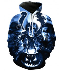 FGD7321 3D Digital Printed NFL Indianapolis Colts Football Team Sport Hoodie With Hat