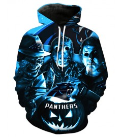 FGD7372 3D Digital Printed NFL Carolina Panthers Football Team Sport Hoodie With Hat