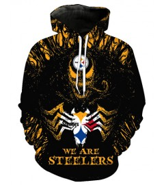 FGE7085 3D Digital Printed NFL Pittsburgh Steelers Football Team Sport Hoodie With Hat