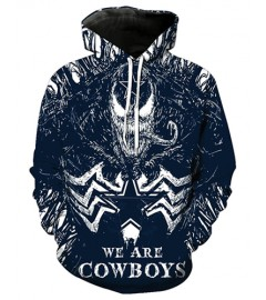 FGE7138 3D Digital Printed NFL Dallas Cowboys Football Team Sport Hoodie With Hat