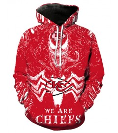 FGE7255 3D Digital Printed NFL Kansas City Chiefs Football Team Sport Hoodie With Hat