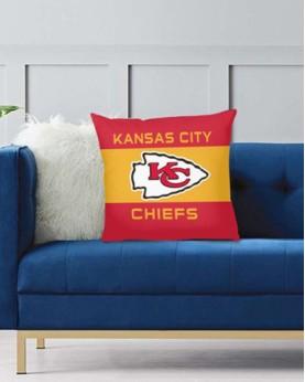 DFAKPL009 NFL Kansas City Chiefs Teams Football Home Decor Sofa Decorative Cushion Pliiow Case Cover Prorector