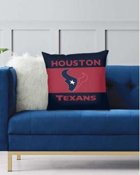 DFAKPL015 NFL Houston Texans Teams Football Home Decor Sofa Decorative Cushion Pliiow Case Cover Prorector