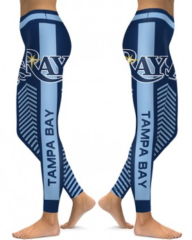 DBAQ577 High Waist MLB Tampa Bay Rays Baseball Team 4Needle 6Thread Stitcking Sports Leggings