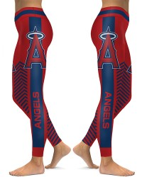 DBAQ578 High Waist MLB Los Angeles Angels Baseball Team 4Needle 6Thread Stitcking Sports Leggings