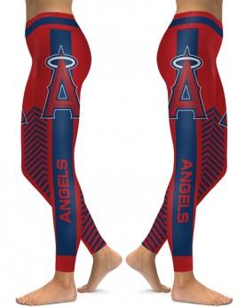 DBAQ578 High Waist MLB Los Angeles Angels Baseball Team 4Needle 6Thread Stitcking Sports Leggings