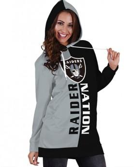 DBHS010 Pre-Order 3D Printed NFL Raider Nation Football Team Sport Hoodie Dress