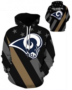 DQYDM467 3D Digital Printed NFL Los Angeles Rams Football Team Sport Hoodie Unisex Hoodie With Hat