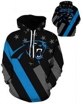 DQYDM468 3D Digital Printed NFL Carolina Panthers Football Team Sport Hoodie Unisex Hoodie With Hat