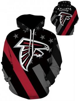 DQYDM469 3D Digital Printed NFL Atlanta Falcons Football Team Sport Hoodie Unisex Hoodie With Hat