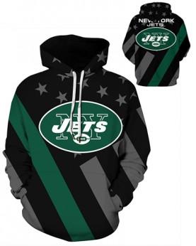 DQYDM470 3D Digital Printed NFL New York Jets Football Team Sport Hoodie Unisex Hoodie With Hat