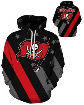 DQYDM471 3D Digital Printed NFL Tampa Bay Buccaneers Football Team Sport Hoodie Unisex Hoodie With Hat