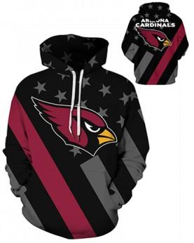 DQYDM472 3D Digital Printed NFL Arizona Cardinals Football Team Sport Hoodie Unisex Hoodie With Hat